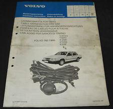 Einbauanleitung Volvo 760 Einbau Leitungsstrang für Anhängerkupplung AHK ab 1988