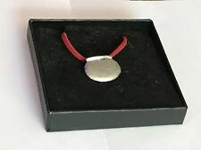 """Couldron With Pot TG12 English Pewter On 18"""" Red Cord Necklace"""