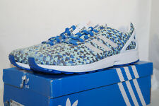 adidas originals ZX FLUX TORSION WEAVE EU 48.6 UK13.5 blau hellgrün B34474