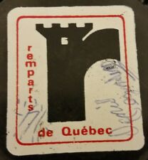 VINTAGE CMJHL QUEBEC REMPARTS MAJOR JUNIOR SIGNED UNKNOWN SIG! HOCKEY PUCK
