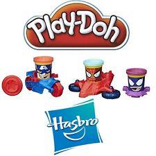 Play-Doh--Marvel Can-Heads--Superhelden mit Fahrzeugen und Spielknete--Hasbro