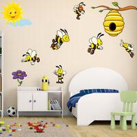 Honey Bee Wall Sticker Baby Kids Room Cartoon Decal Animal Art Mural Home Decor