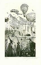 Exlibris Etching  Bookmark:  Dergachov