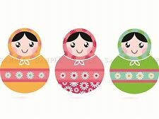 Colorful MATRYOSHKA bambola Set Foto art print poster foto bmp2144a