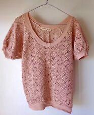 Crochet top, Peach size 10, Boho designer, Arabella Ramsay