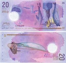 Malediven / MALDIVES - 20 Rufiyaa 2015 (2016) UNC - Pick New, Polymer