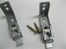 2 Brand New Window Shades Metal Mounting Brackets & Screws~Holders~Hooks~Blin ds