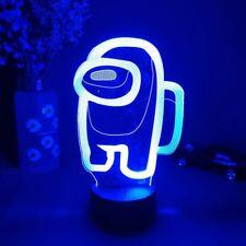 Among Us Logo 3d Illusion Desktop Lamp Coffee Table Led Sensor Lights Night Lamp