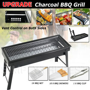 Foldable BBQ Charcoal Grill Portable Outdoor Hibachi Camping Barbecue Large Set