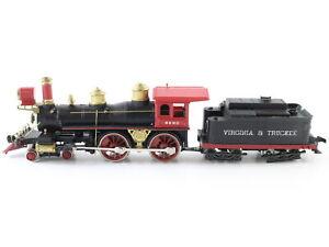 """AHM HO Scale """"virginia & Truckee"""" 4-4-0 Reno Model Steam Locomotive"""