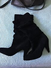 71367d18e12 Zu Shoes Black Suede Boots Cambridge Size 8