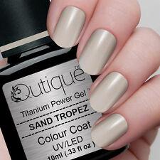 Qutique SAND TROPEZ Soak Off LED/UV Gel Nail Polish Colour -Creamy Grey