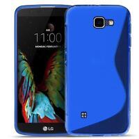 Handy Cover LG Bello 2 Silikon Hülle Case Schutz Slim TPU Tasche Backcover Blau