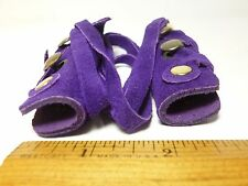 North Star Purple Suede Mini Hair Ties-For  Pony Tail/Braid Wrap Made In USA#113