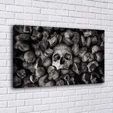 Bones Skull Monochrome Home Decor Room HD Canva Print Picture Wall Art Painting