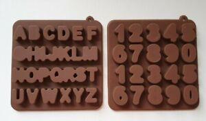 Silikonform Betongießen Seifenform Kerzengießen Buchstaben Alphabet Zahlen 0 - 9