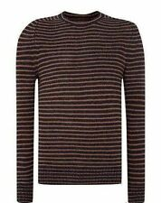 Wool Blend Crew Neck Striped Jumpers & Cardigans for Men