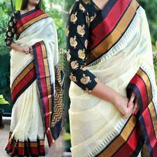 Cotton Silk  Bollywood Designer Sari Indian Traditional Ethnic Bridal Party D012