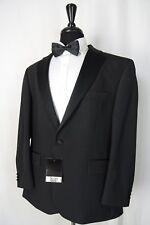 Men's New Scott By The Label Black Tuxedo Dinner Suit 54R W48 L31 AA1499