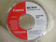 CANON BJC-3010 PRINTER DRIVERS INSTALLATION CD for Windows and Mac