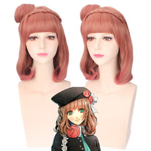 AMNESIA Actress Heroine Cosplay Bun braid Anime Costume Hair Wig heat resistant