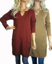 Viscose Long Sleeve Jumper Dresses for Women