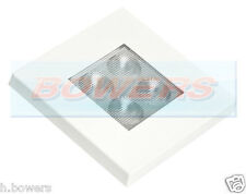12V/24V SQUARE WATERPROOF WHITE RECESSED LED INTERIOR OR EXTERIOR LIGHT LAMP
