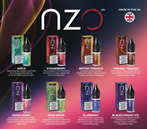 NZO VAPE E Liquid Vape Juice | 10ml | 6mg 12mg 18mg Nicotine | 50/50 PREMIUM UK