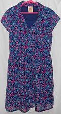 Girls 10-12 Old navy, floral, soft sheer, short sleeve, full skirt dress