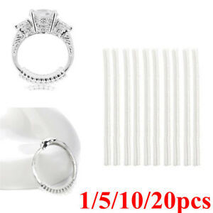 1-20x Ring size reducers Spiral Invisible Snugs Guard RESIZER ADJUSTERS TOOLS @I