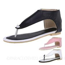 Wedge T-Strap Solid Sandals & Flip Flops for Women