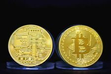 1x Bitcoin Coin Münze Mining Miner Medaille Sammelmünze RAR