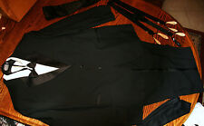 JEOFFREY BEENE 100% WOOL BLACK TUXEDO 54L ALL ACCEXSORIES ESTATE LTCOL MADENWALD