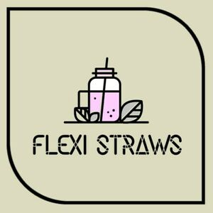100XFLEXI PAPER STRAWS STRIPED PARTY CHRISTMAS BIRTHDAY BIODEGRADABLE 13 COLOURS