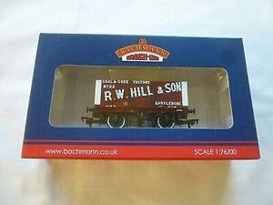 BACHMANN OO GAUGE 8 PLANK R.W. HILL & SON WAGON 37-162  [MINT AND BOXED]