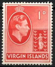 British Virgin Islands 1938-47 SG#111a 1d Scarlet KGVI Ordinary Paper MNH#D15959