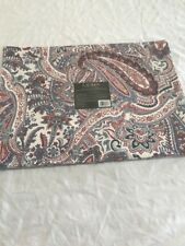 "Ralph Lauren Laveen Paisley 4 Placemats - Red - 14"" x 19"" - 100% Cotton"