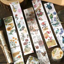 Vintage Scrapbooking Washi Tape Flowers Leaves Words DIY Journal Craft Decor