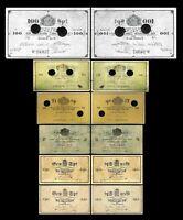 Noruega  2x 1 - 100 Speciedalere - Edición Trondhjem 1847-1866   Reproducción 12