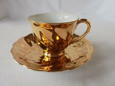 Collectable VINTAGE AUSTRALIAN AVONDALE 22K GOLD GILDED Cup & Saucer Retro