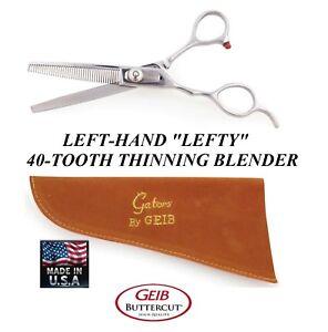 Geib Gator Buttercut LEFTY LEFT HANDED 40 TOOTH BLENDING THINNING Scissor SHEAR