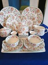Stylish Minton Haddon Hall Green 14 piece 'Breakfast for Two' Service