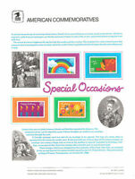 #320 25c Special Occasions Booklt #2396-2399 USPS Commemorative Stamp Panel