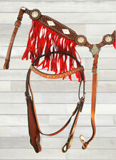 PRO WESTERN HEADSTALL BREAST COLLAR SET TRAIL SHOW BREASTCOLLAR HORSE TACK SET
