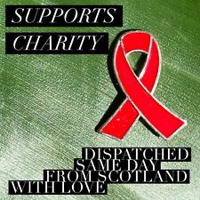 HIV AIDS Awareness ribbon Enamel Brooch Pin Badge Campaign Proceeds To Charity