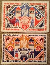 2 X Silk Banknotes. Germany. 25 & 50 Marks. 1921-22. Uncirculated