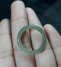 Natural Grade A Jadiete Jade ring stone carving Size 8.25 A7790