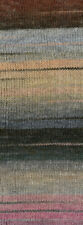 Wolle Kreativ! Lana Grossa - Gomitolo Molto - Fb. 609 rotbraun/grau/lachs 200 g