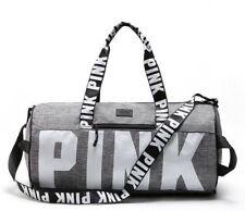 Victoria Secret PINK Marl Grey Canvas Yoga Duffle Bag School Holiday Gym Travel