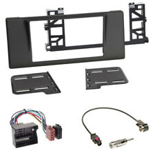 Doppel 2-DIN BMW 5er E39 40-PIN Adapter+ Einbaurahmen Radioblende+Fakra Antenne